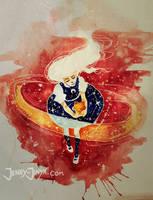 watercolor speedpaint by JennyJinya