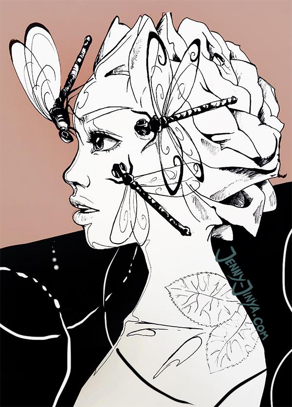 Rosehead fineart by JennyJinya