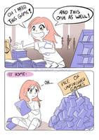 too many games - comicstrip by JennyJinya