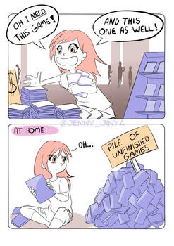 too many games - comicstrip