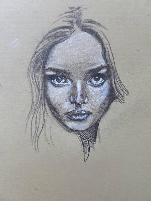portrait practice 1 by leejx1995