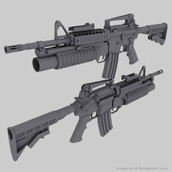 M4 Carbine with M203 by MeganeRid