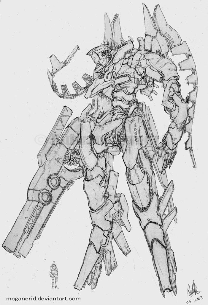 Mecha - Icarus by MeganeRid