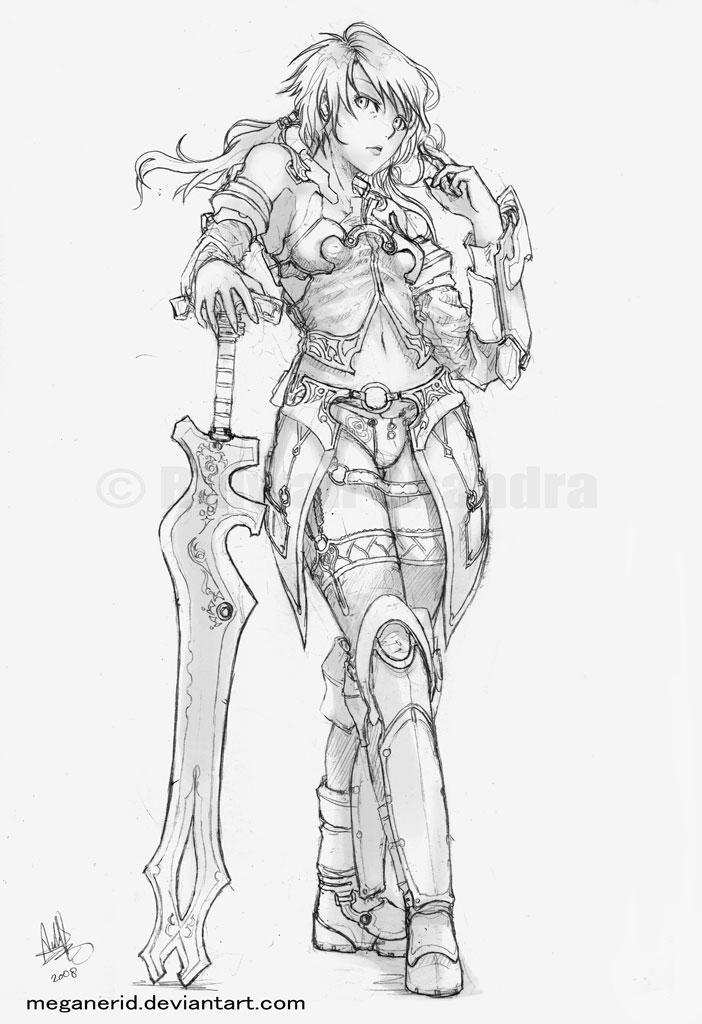 Female Warrior Yuki By Meganerid On Deviantart