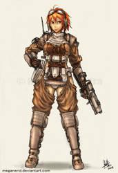 Gunner Girl Rio by MeganeRid