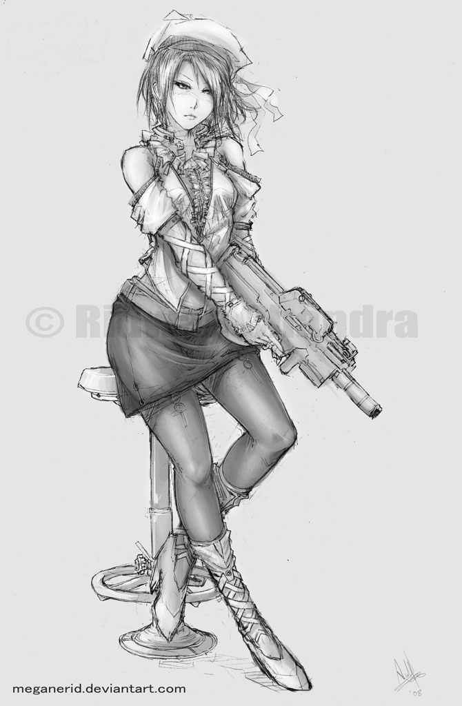 Lady with a Rifle by MeganeRid