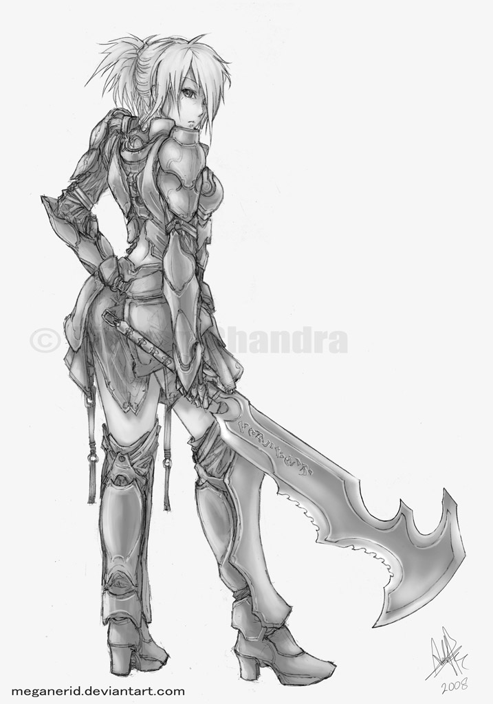 Female Warrior Aska by MeganeRid