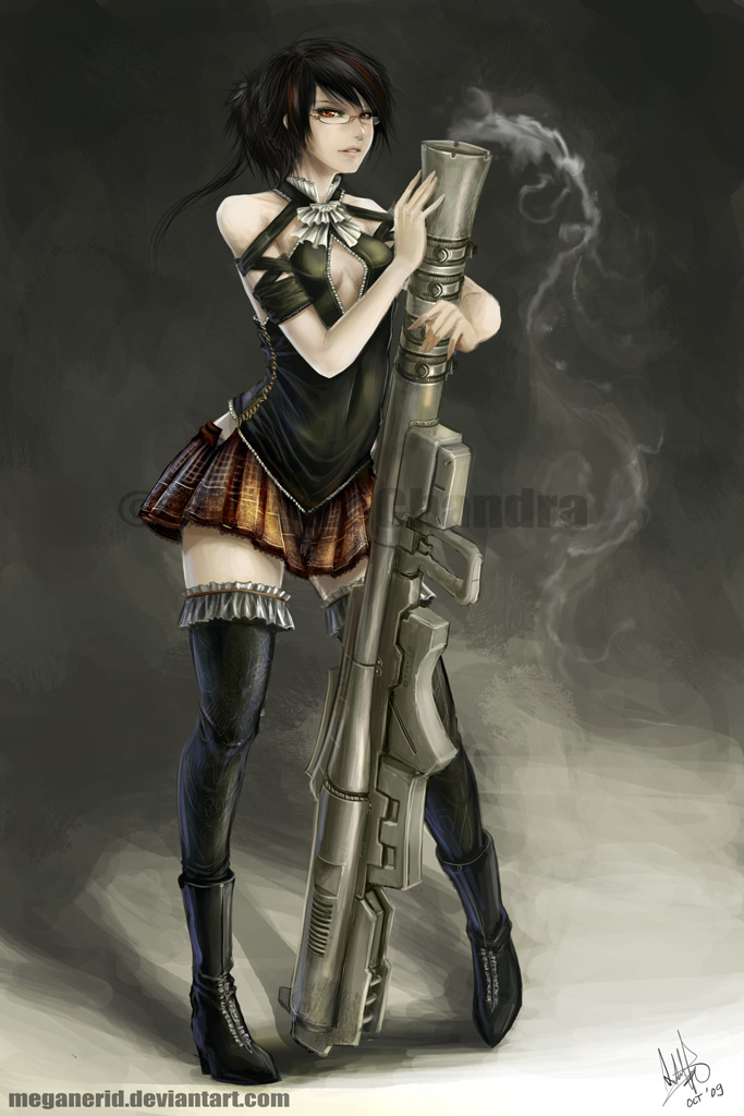 Bazooka Girl by MeganeRid