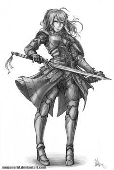 Female Warrior Fate by MeganeRid