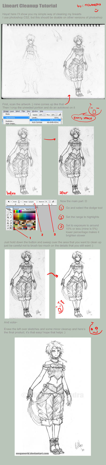 Lineart Clean Up Tutorial