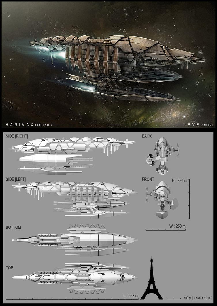 Harivax Class Battleship by MeganeRid
