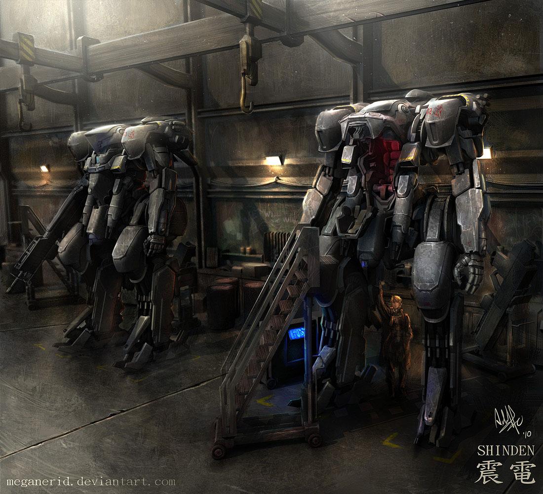 Shinden's Hangar by MeganeRid