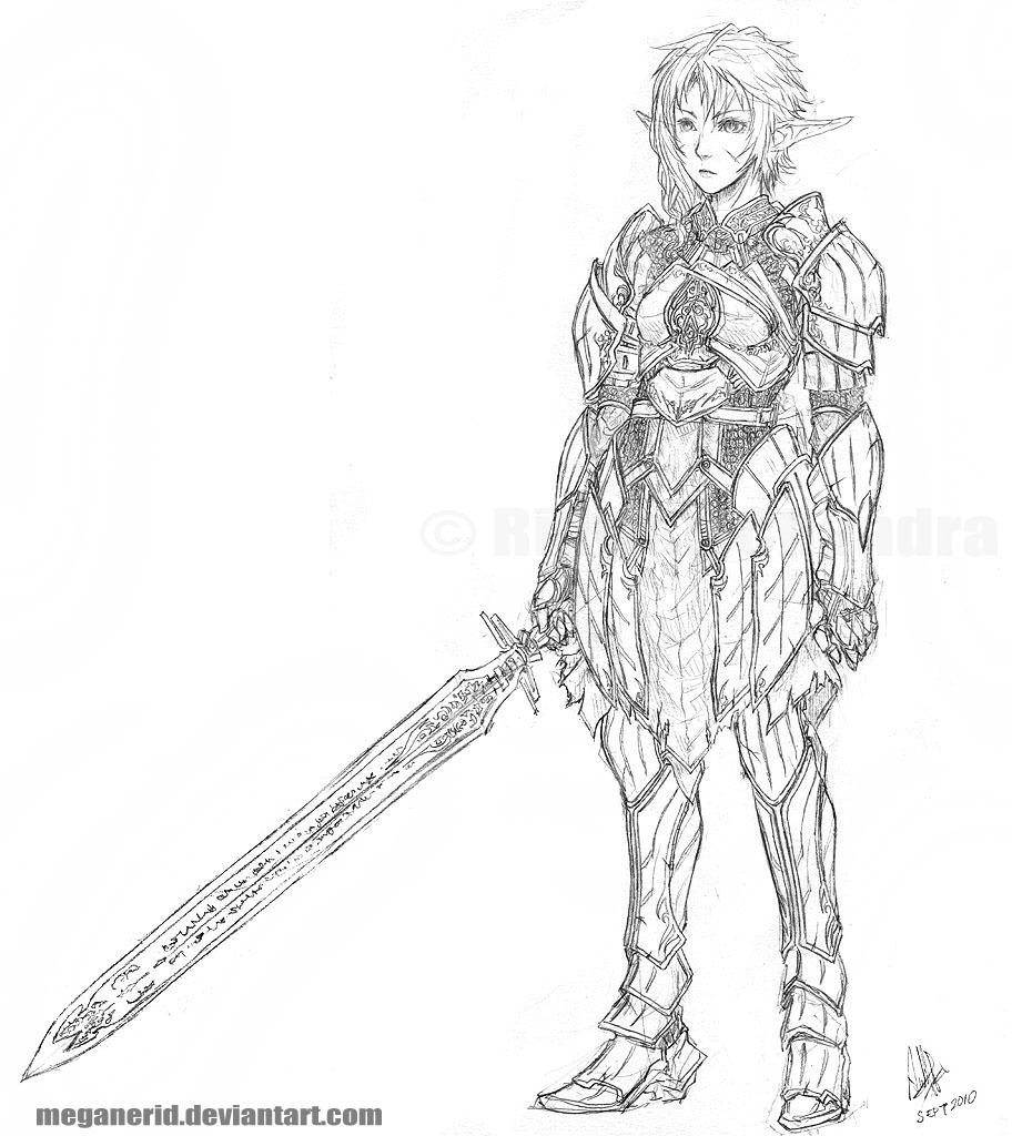 Female Warrior Ilya by MeganeRid