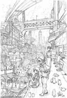 Asura and Ramen Break by MeganeRid