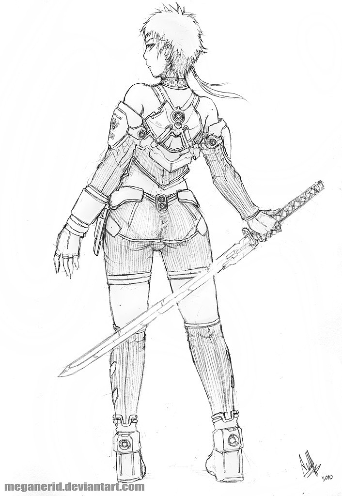 Samurai Girl Rikki by MeganeRid