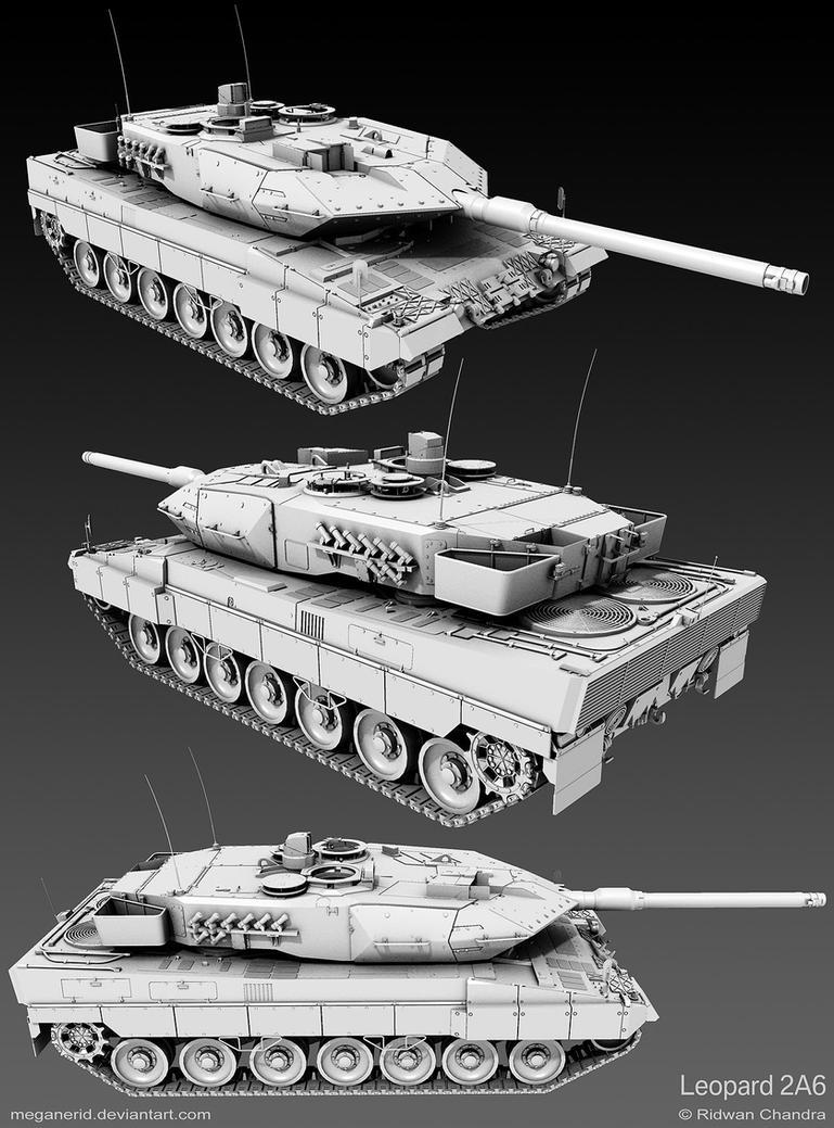 Leopard 2 Tank by MeganeRid