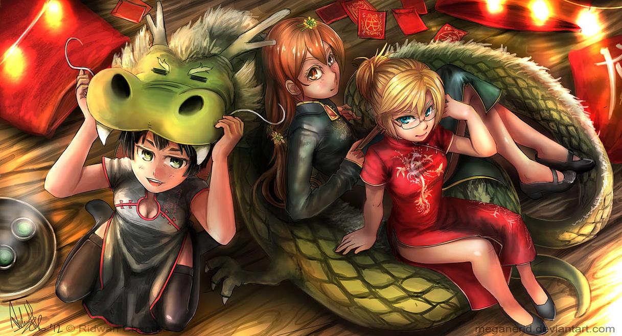Dragon Girls by MeganeRid