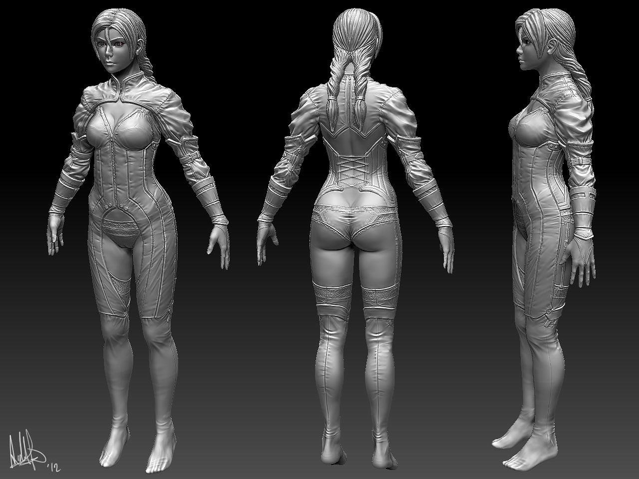 Steampunk Girl WIP 2 by MeganeRid