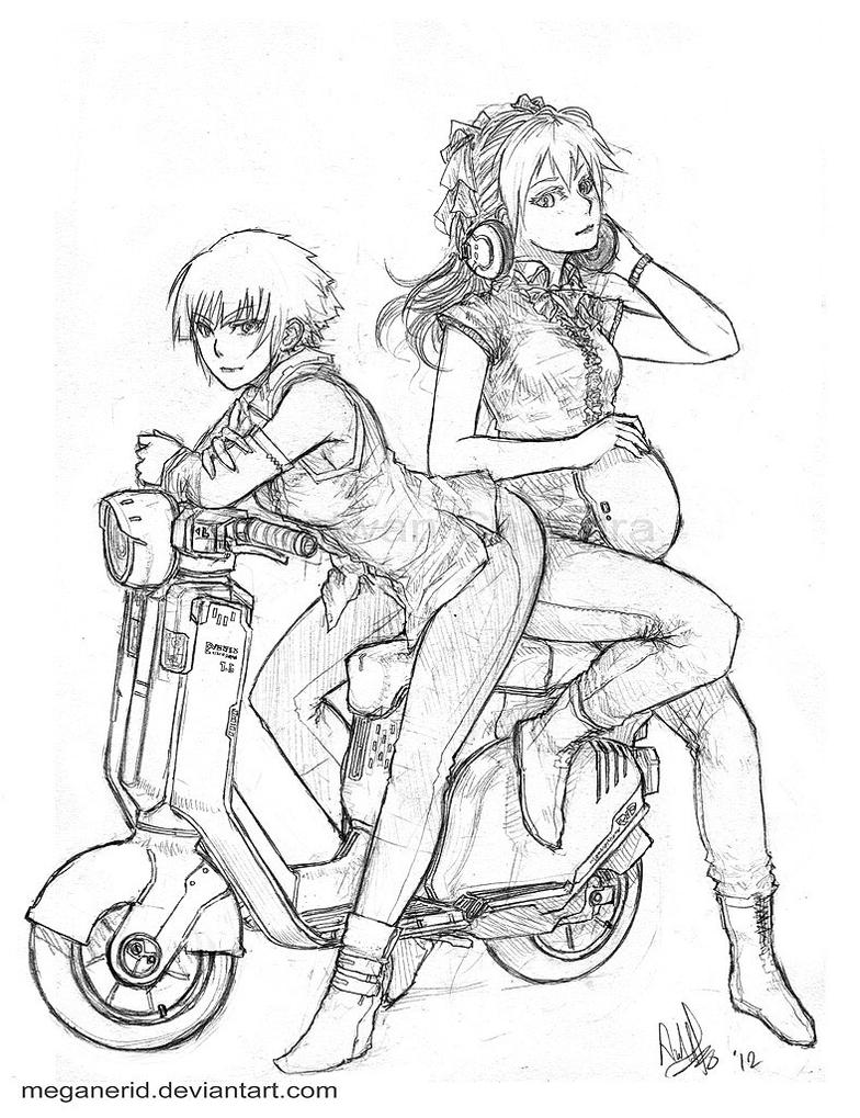 Scooter Girls by MeganeRid