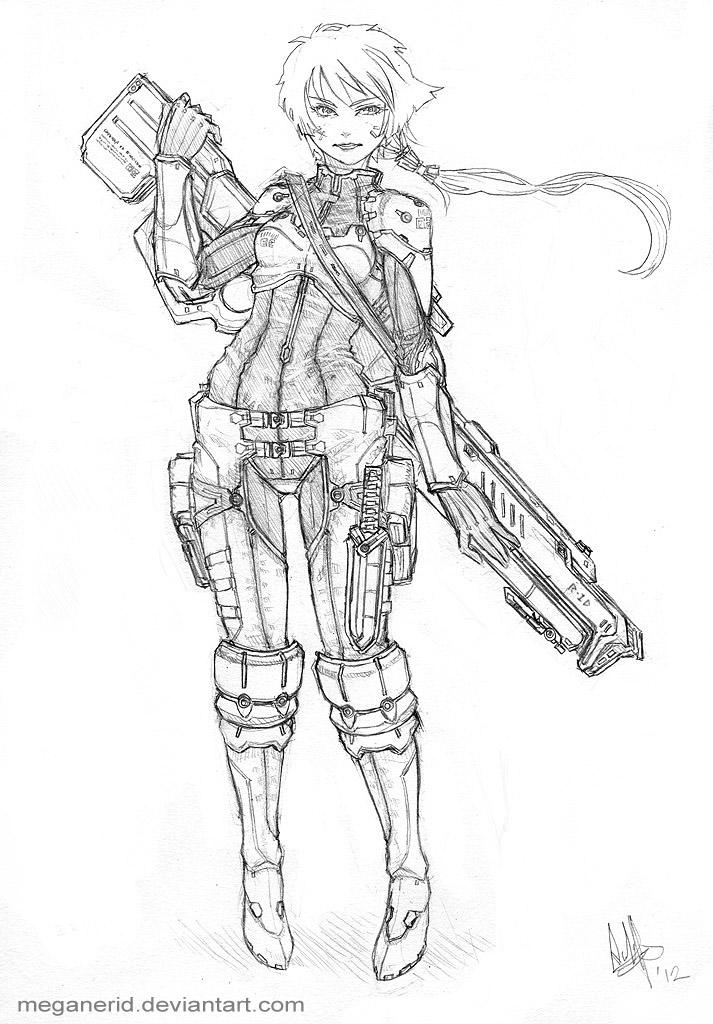 Sharpshooter Rhea by MeganeRid