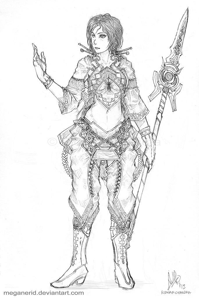Female Mage Nadia by MeganeRid