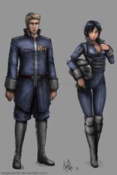 Commission - Thomas Logan and Misako