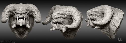 Monster Head by MeganeRid