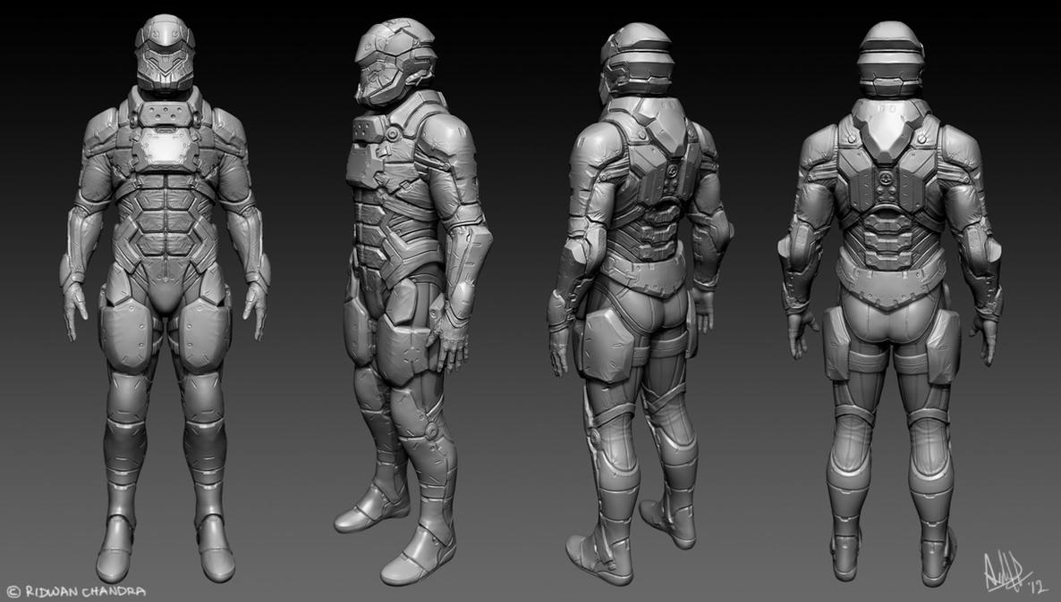 Male Soldier WIP by MeganeRid