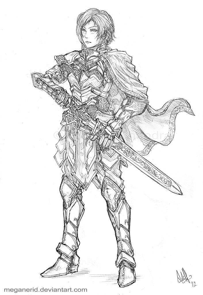 Female Knight Eiryn by MeganeRid