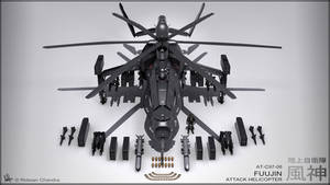 Fuujin Attack Helicopter Render
