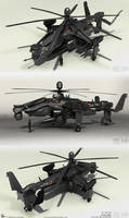 Fuujin Attack Helicopter Renders 2