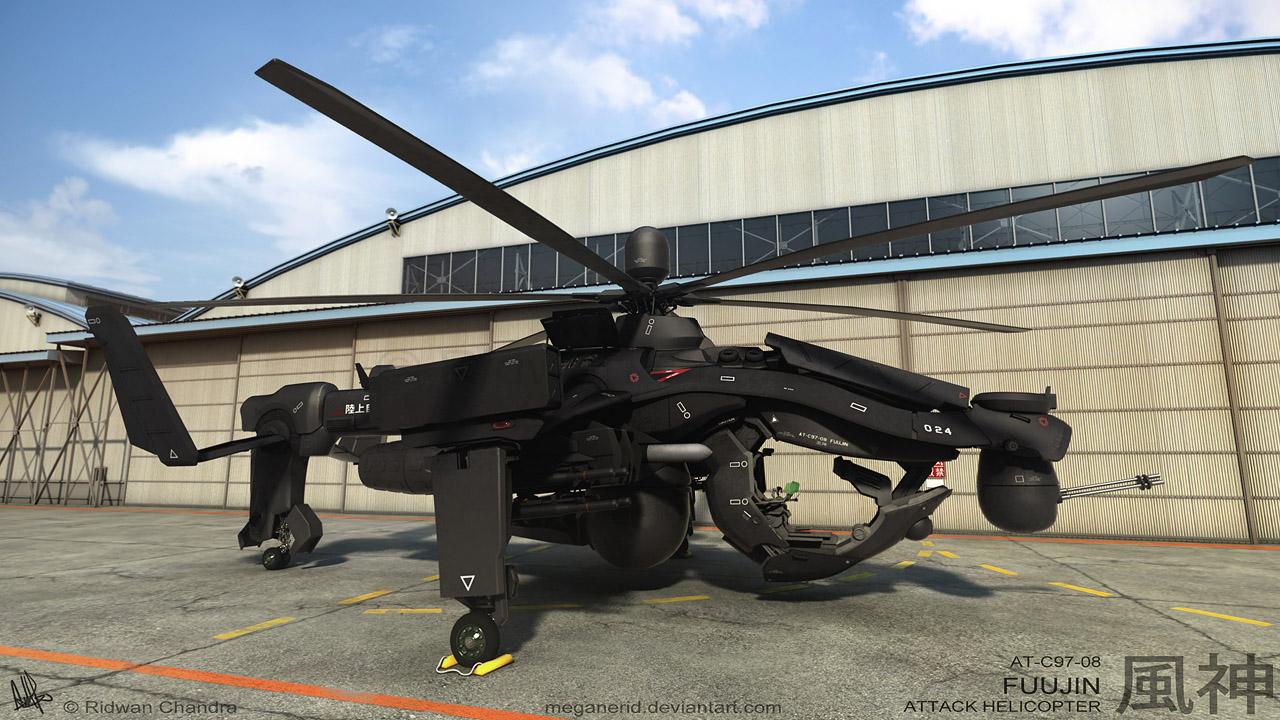 Fuujin Attack Helicopter Scene