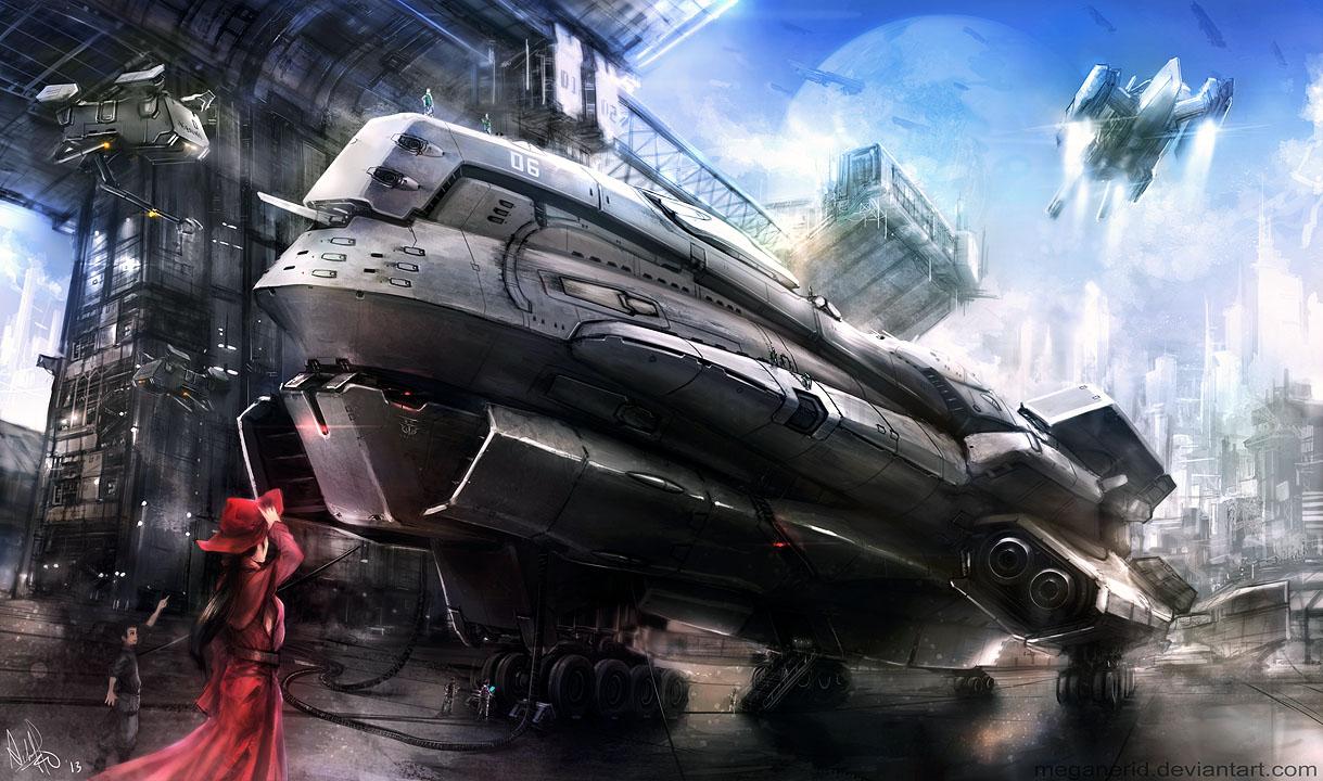 Space Port by MeganeRid