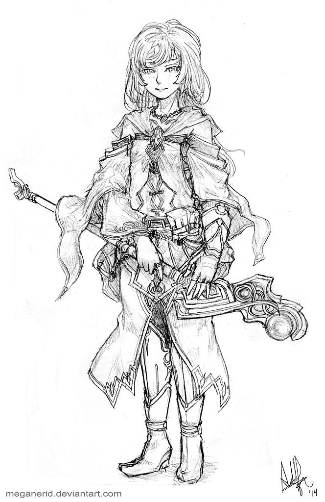 Alchemist Mage Airi by MeganeRid