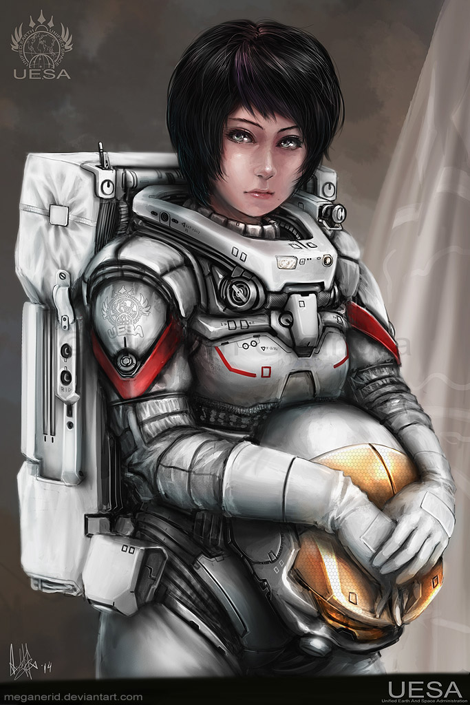 girl in space suit wallpaper - photo #28