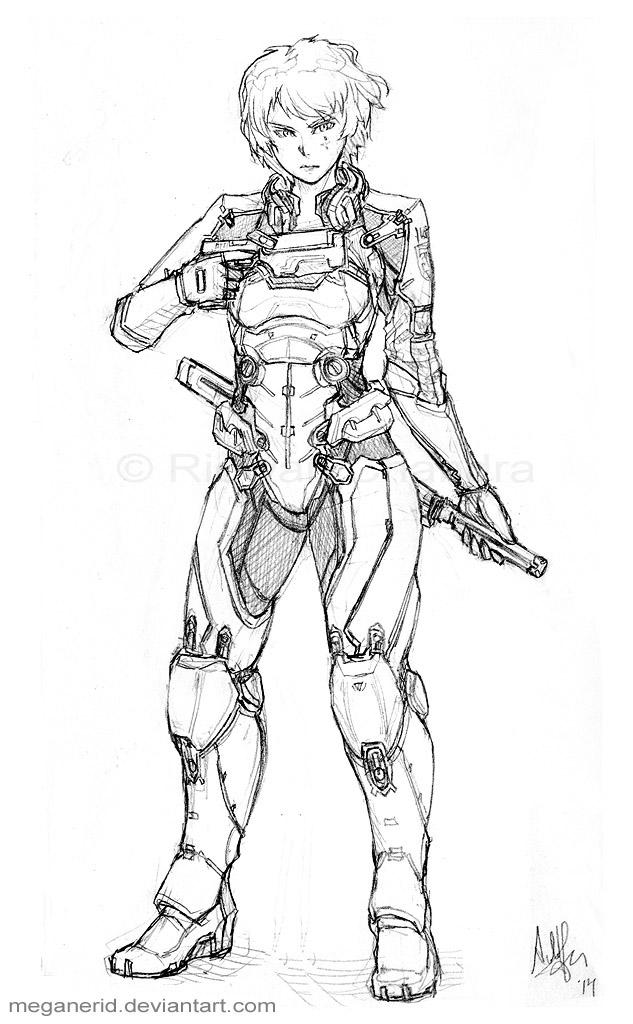 Major Kyoko by MeganeRid