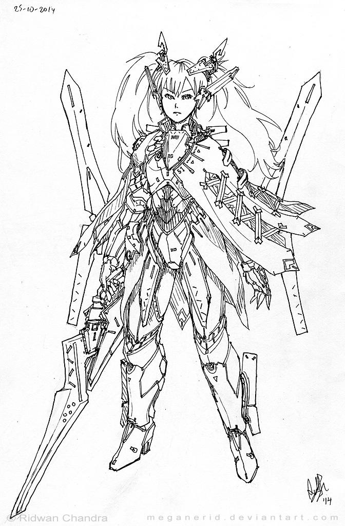 Swordmaster Angel Thea by MeganeRid