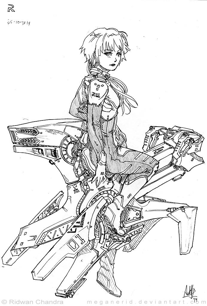 Airbike Girl Fei by MeganeRid