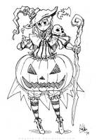 Pumpkin Witch Girl