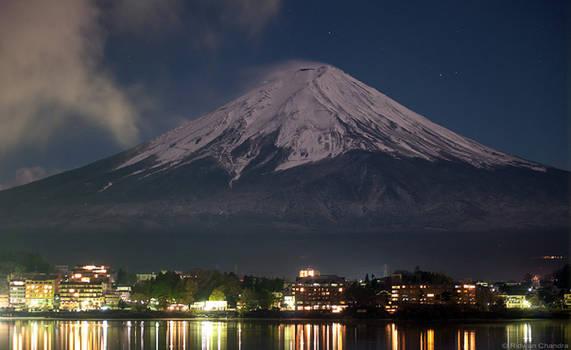 Fuji at Night