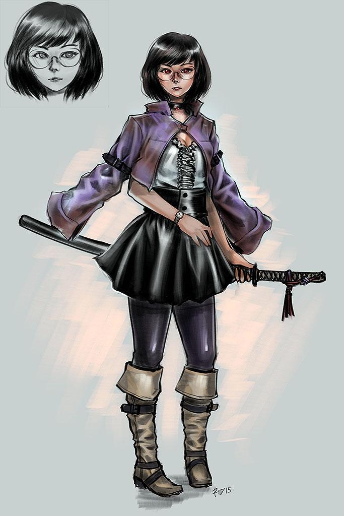 Sword Girl by MeganeRid