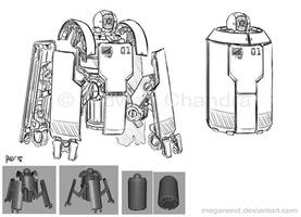 Commission - Robot Canister by MeganeRid