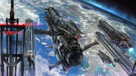 Orbital Dock by MeganeRid