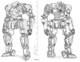 Commission - Mecha - (Genesis) GE-L101 by MeganeRid