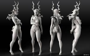 Horned Lady Sculpt