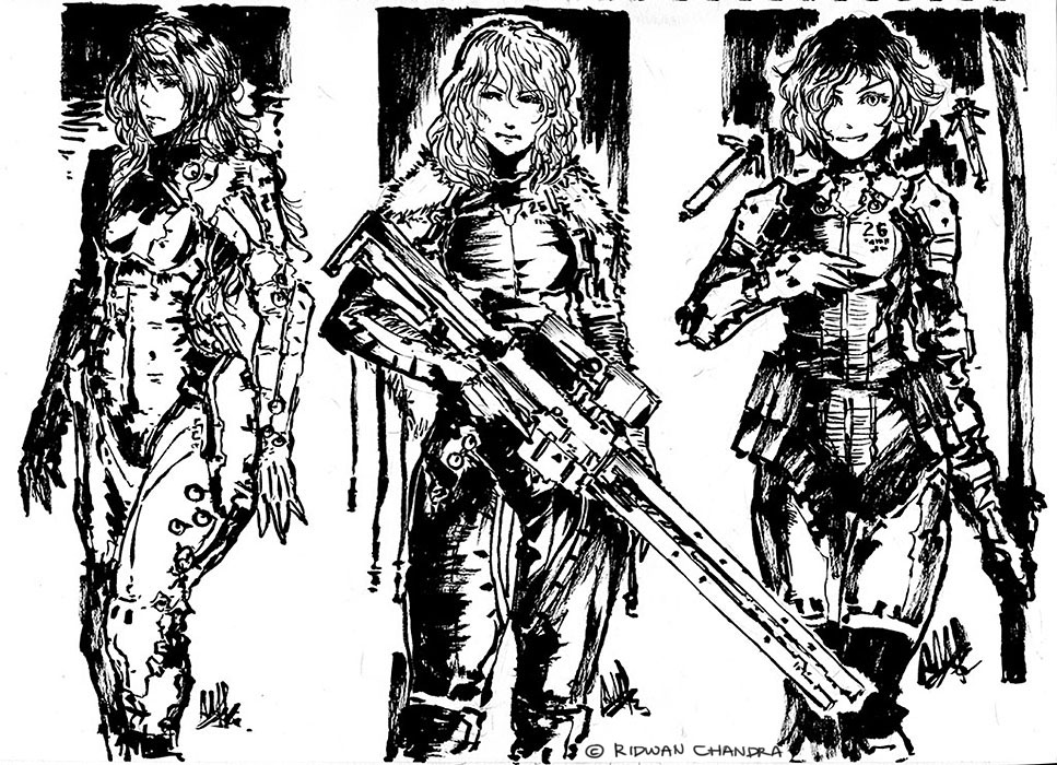 Inked Character Set by MeganeRid