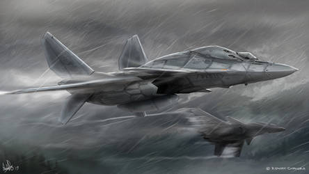 Fighters in the Rain by MeganeRid