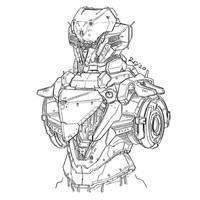 Mecha sketch #74