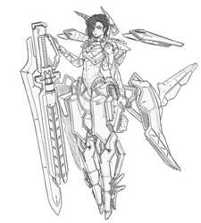 Gun Blade Mecha Girl