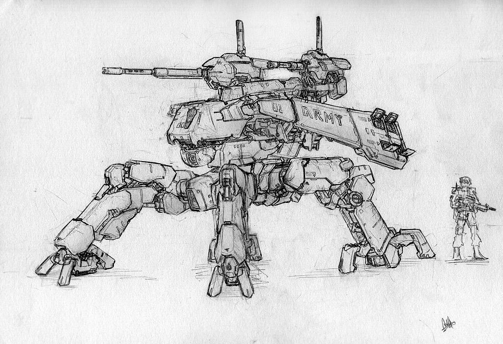 four-legged mech by MeganeRid